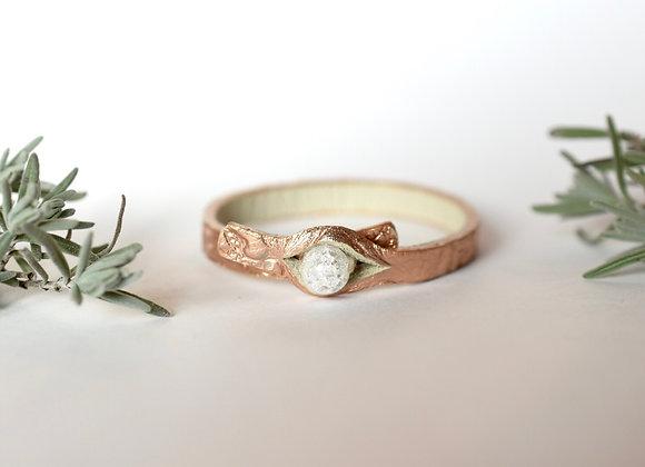Thin Rose Gold Leather Bracelet