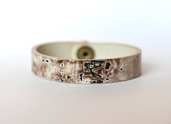 Thin Birch Bark Leather Bracelet