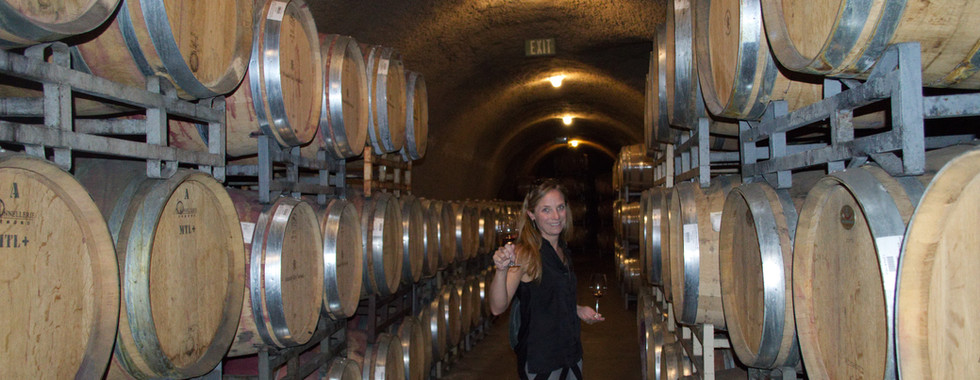 Carrie Menendez at Alexander Valley Vineyards doing research
