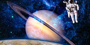 Space astronaut spaceman saturn planet s