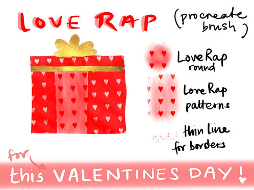 LOVE RAP (PROCREATE BRUSH)