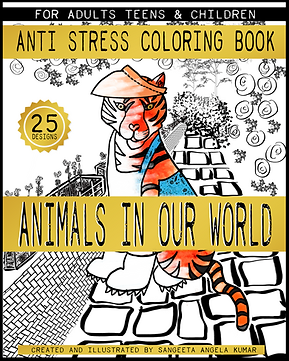 ANIMALS IN OUR WORLD   ANTI STRESS COLOR