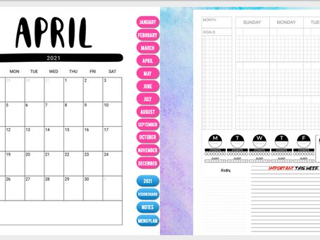 NEW BEGINNINGS with a FREE 2021 DIGITAL PLANNER