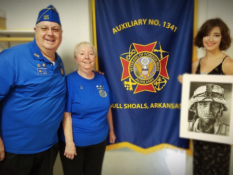 Thea Scholarship Winner Uses Art to Honor Veterans