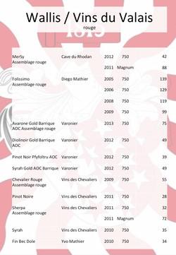 Valais Wine red