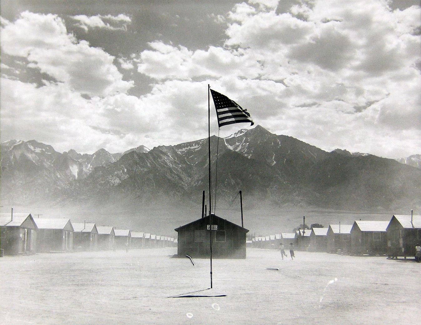 Manzanar Relocation Center, Manzanar, California. July 3, 1942.