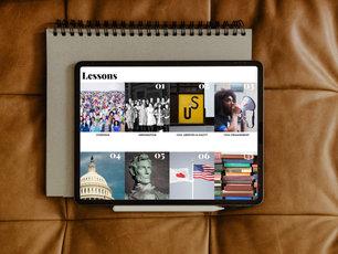 Six Lessons Tablet Mockup