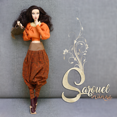 OOAK Sarouel Orange