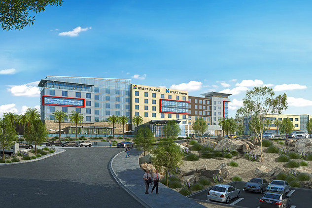 Hyatt Place/House Pomona render