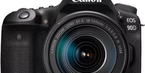Canon EOS 90D 18-135mm IS USM Lensli Fotoğraf Makinesi