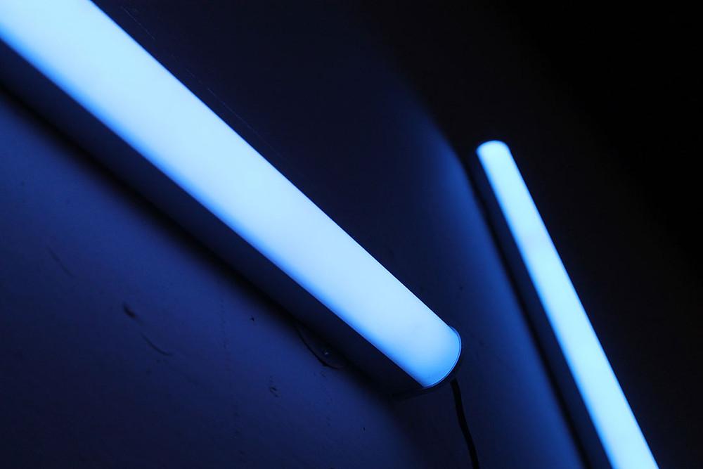 UV lights on wall