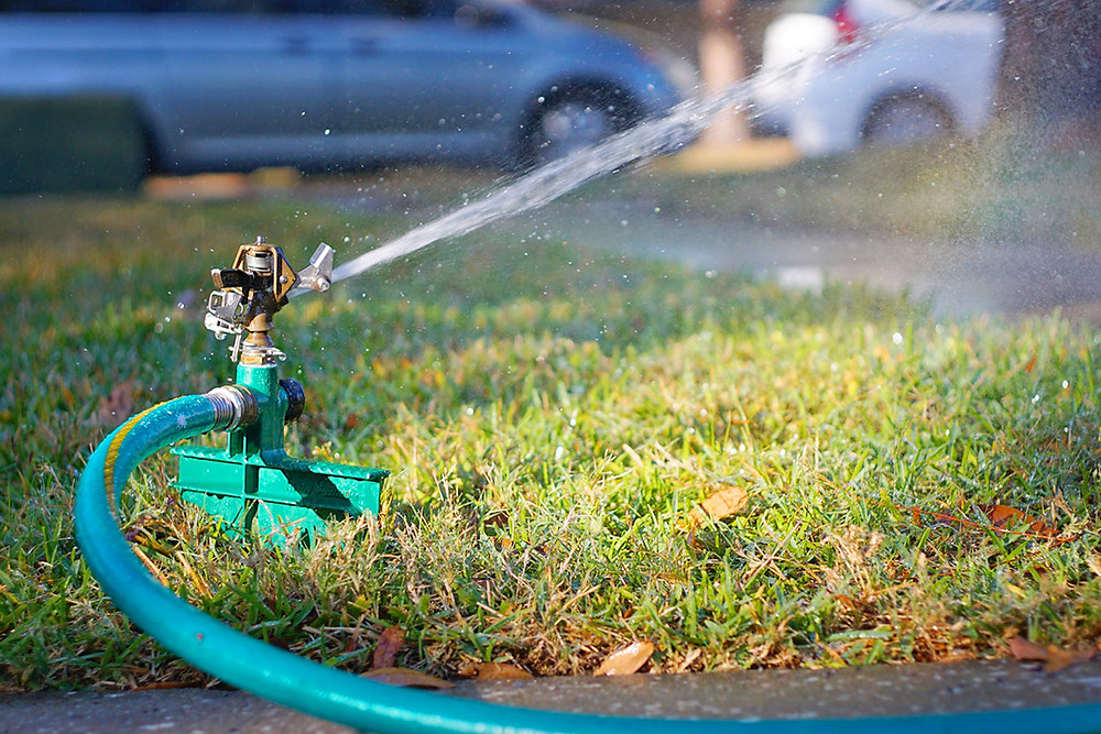 Poor sprinkler placement can affect lawn