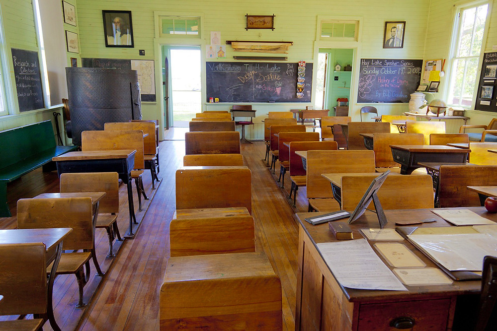 Empty school classroom during COVID-19 outbreak