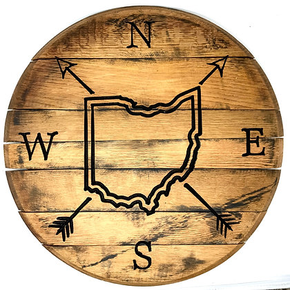 Whiskey Barrel Head, Ohio NSEW