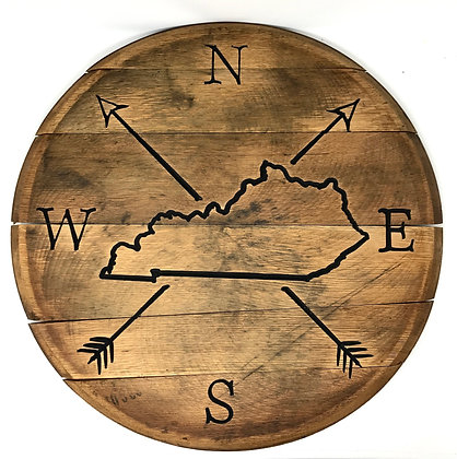 Whiskey Barrel Head, Kentucky NSEW