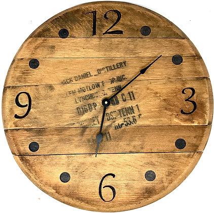 Whiskey Barrel Head, Clock