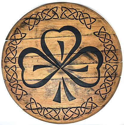 Whiskey Barrel Head, Shamrock