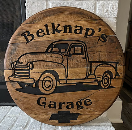 Personalized Chevy 3100 Barrel Head