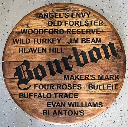 Bourbon Brands Barrel Head