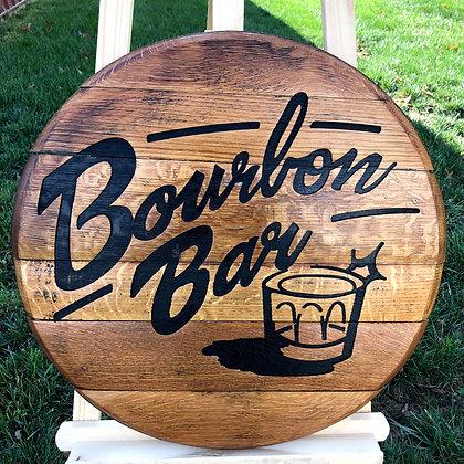 Bourbon Bar Barrel Head