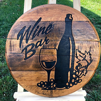 Wine  Bar Barrel Head