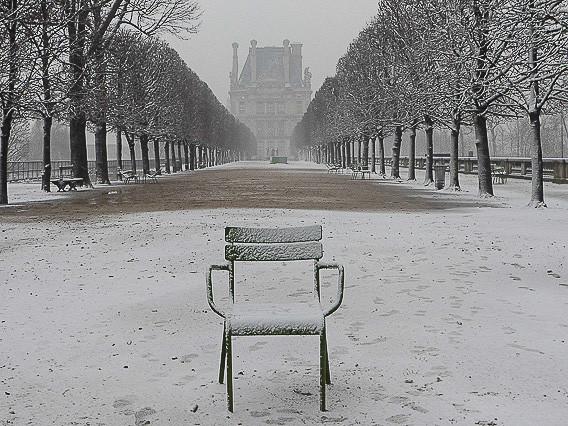 Briser dans la neige, Jardin des Tuileries, Paris 2018