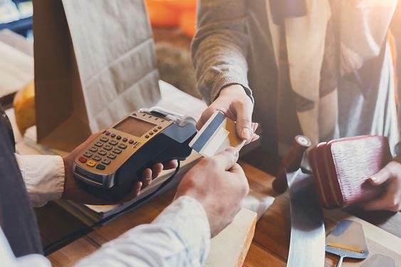 Retail, credit card payment service. Cus