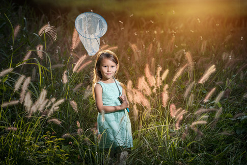 Anna with butterfly catcher