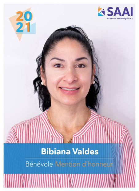 Bibiana Valdes, bénévole Mention d'honneur 2020-2021