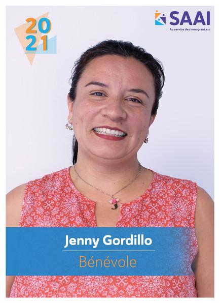 Jenny Gordillo, bénévole