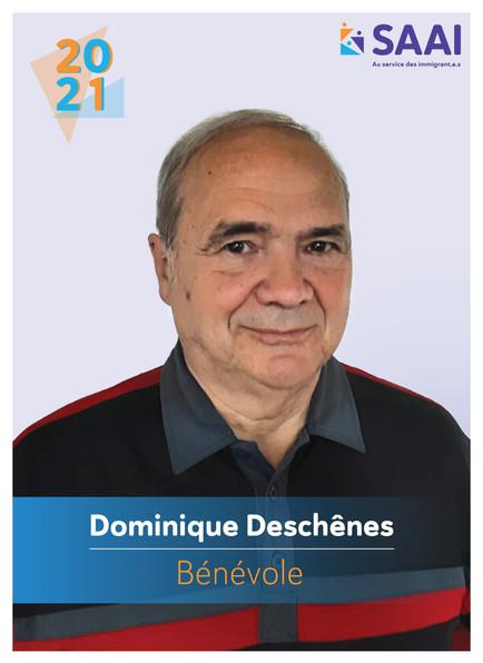Dominique Deschênes, bénévole