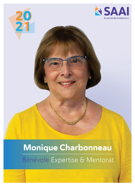 Monique Carbonneau, Bénévole Expertise et Mentorat