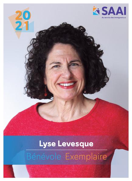 Lyse Levesque, bénévole exemplaire 2020-2021