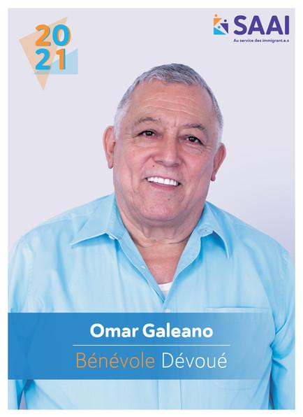 Omar Galeano, bénévole dévoué
