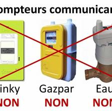"""PRA' dit NON aux compteurs """"Linky - Gazpar - Eau""""."""