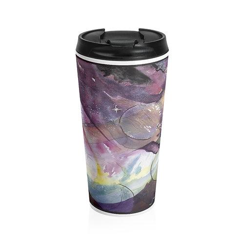 """Ancient Starlight"" Stainless Steel Travel Mug"