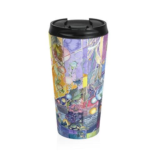 """Nebula"" Stainless Steel Travel Mug"
