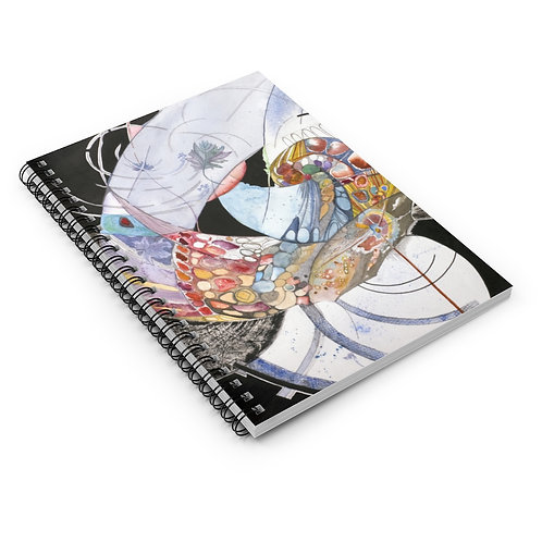 """The Grace of Space"" Spiral Notebook - Ruled Line"