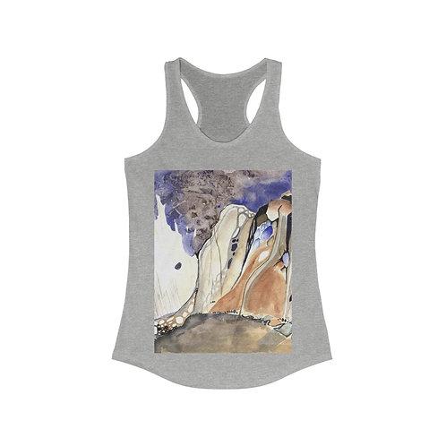 """Morchella Mountains"" Women's Ideal Racerback Tank"