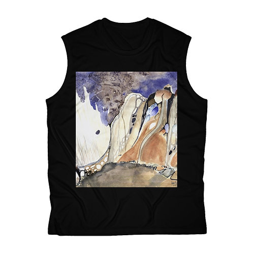 """Morchella Mountains"" Men's Sleeveless Tee"