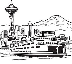 Seattle ferry and space needle.png
