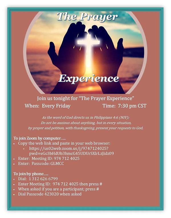 The Prayer Experience Announcement.jpg