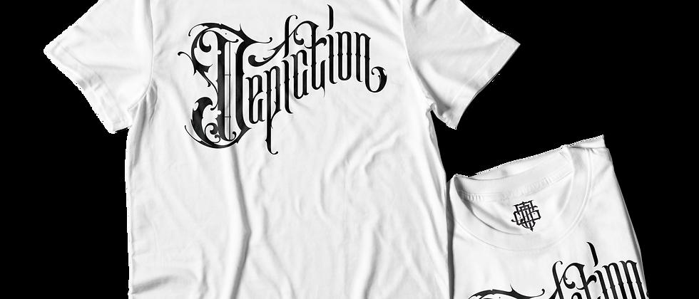 """Depiction """"Script"""" T-Shirt"""
