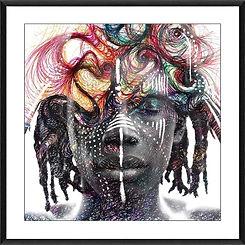 1msq dreamtime dreaming glass framed pri