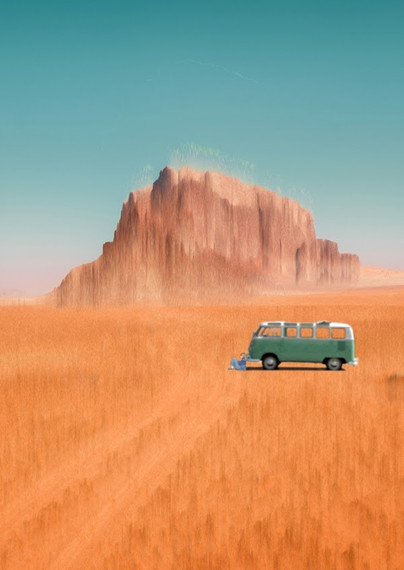 The Girl in the Van in the Middle of the Desert by Bit_Errror