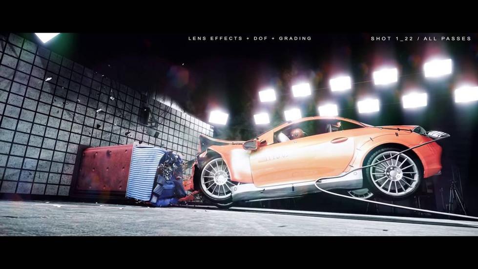 LUCIO ARESE // Slit Scan Crash Test (Making Of)