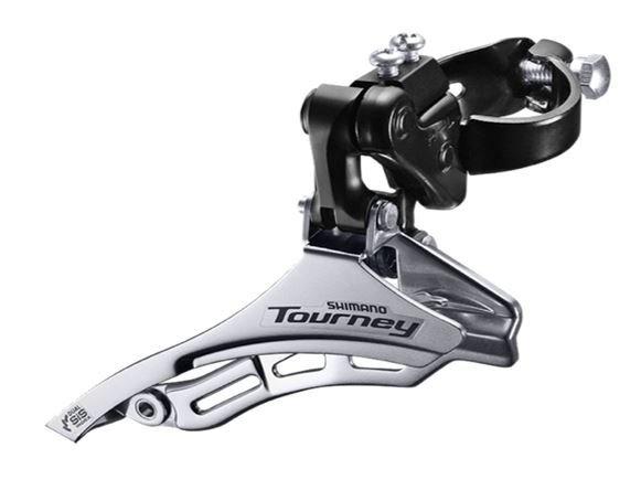 Переключатель передний Tourney FD-TY300, хомут 31.8мм, верх.тяга