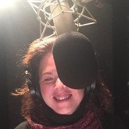 Eve Passeltiner in the recording studio
