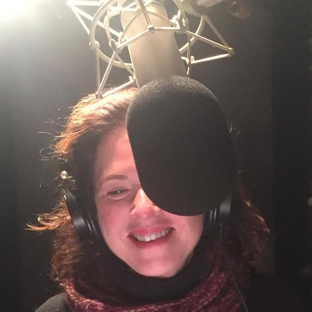 Eve Passeltiner in the recording studio