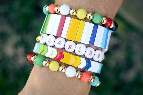 Fearless Bracelet Set with accessory bracelets